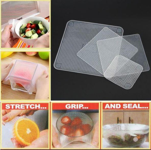Fresh Stretch Food Covers (4Pc)