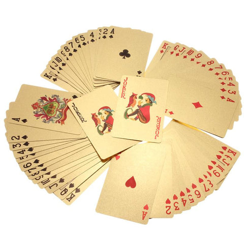 24K Carat Gold Plated Playing Cards
