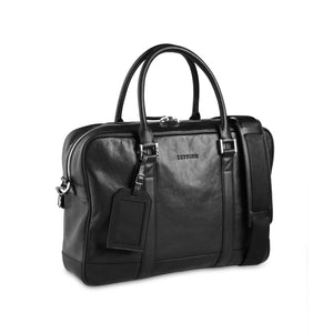 Black Shrunken Briefcase - ZETTINO