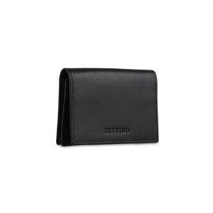 Black Card wallet (flap) - ZETTINO