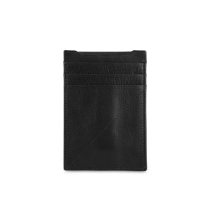 Black Shrunken Card holder with clip - ZETTINO