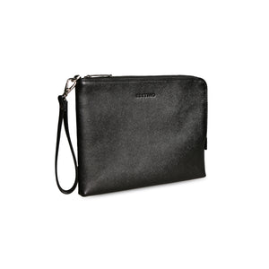 Black Saffiano Clutch - ZETTINO