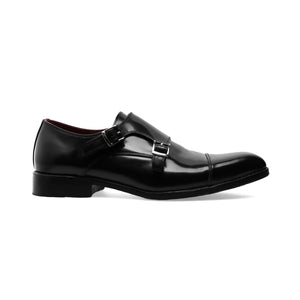 Black Double Monk Strap - ZETTINO