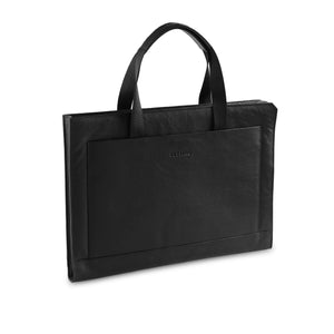 Black Shrunken Laptop sleeve - ZETTINO