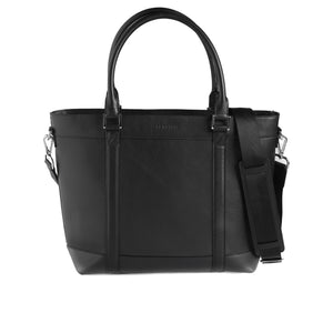 Black Shrunken Tote Bag - ZETTINO