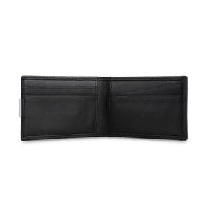 Black Card holder with clip (bi-fold) - ZETTINO
