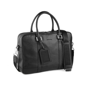 Black Saffiano Briefcase - ZETTINO