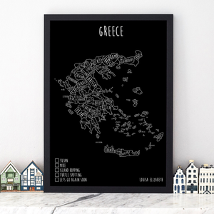 Personalised Greece Pin Board Map (NEW)