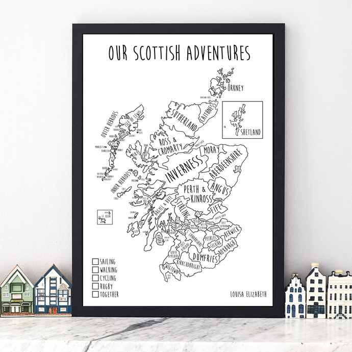 Personalised Scotland Pin Board Map (NEW)