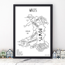 Load image into Gallery viewer, Personalised Wales Pin Board Map (NEW)