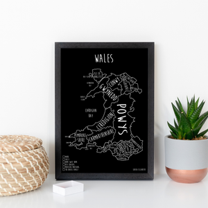 Personalised Wales Pin Board Map (NEW)