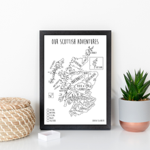 Load image into Gallery viewer, Personalised Scotland Pin Board Map (NEW)
