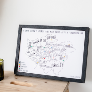 Personalised London Pin Board Map (NEW)