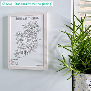 Personalised Ireland Pin Board Map (NEW)