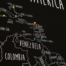 Load image into Gallery viewer, Personalised South America Pin Board Map