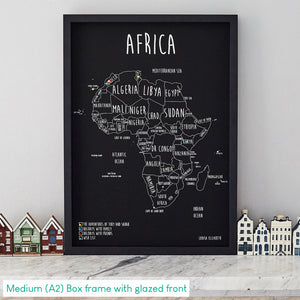 Personalised Africa Pin Board Map
