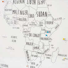 Load image into Gallery viewer, Personalised Africa Pin Board Map