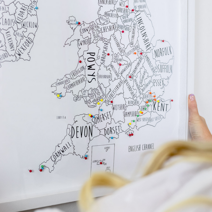 Personalised Great Britain & Ireland Pin Board Map