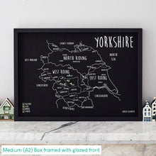 Load image into Gallery viewer, Personalised Yorkshire Pin Board Map (NEW)