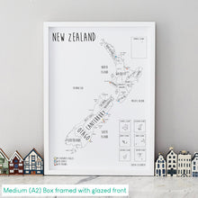 Load image into Gallery viewer, Personalised New Zealand Pin Board Map (NEW)
