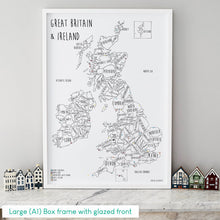 Load image into Gallery viewer, Personalised Great Britain & Ireland Pin Board Map