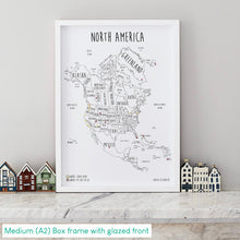 Load image into Gallery viewer, Personalised North America Pin Board Map (NEW)