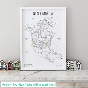 Personalised North America Pin Board Map (NEW)