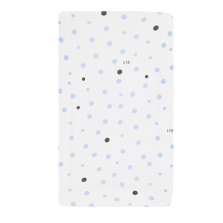 Change Mat Cover Jersey Cotton: PALE BLUE & GREY SPOTS