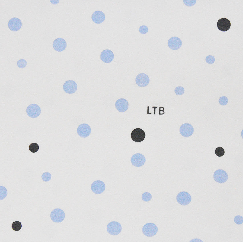 Cot Fitted Sheet Woven Cotton: PALE BLUE & GREY SPOTS - Little Turtle Baby