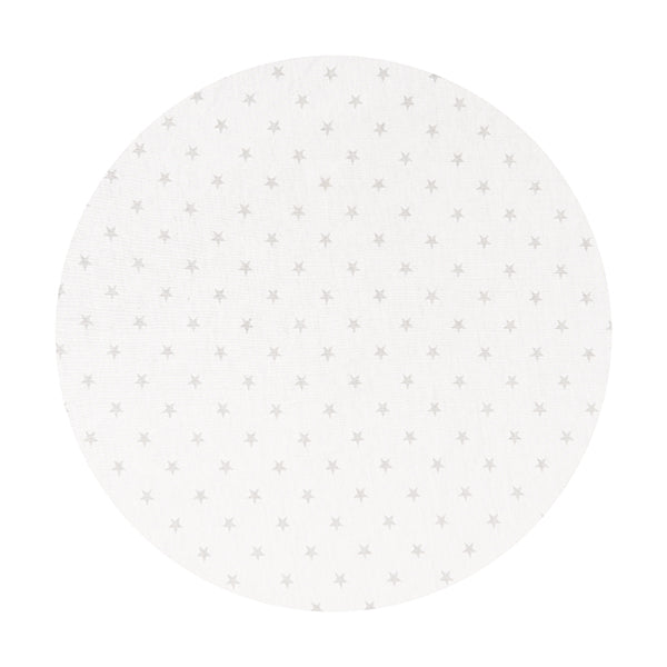 CIRCLE Bassinet Fitted Sheet (JERSEY):   GREY STARS