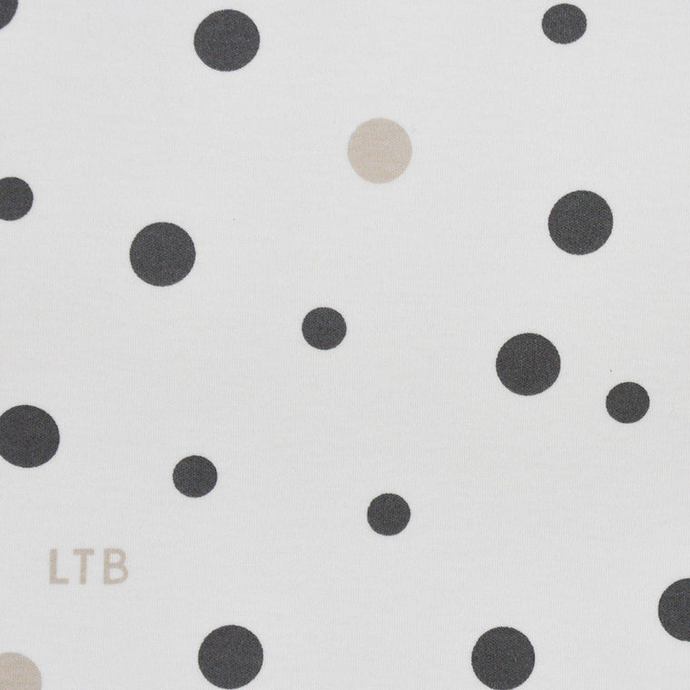 Baby Wrap - Stretch Cotton Jersey: GREY & BEIGE SPOTS