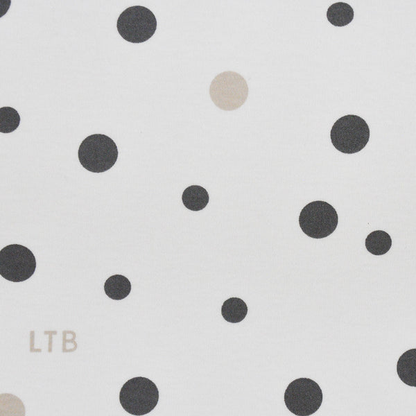 Baby Wrap - Stretch Cotton Jersey: GREY & BEIGE SPOTS - Little Turtle Baby