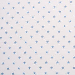 NEW! - Bassinet Fitted Sheet (LARGE SIZE - 91x54x20cm): PALE BLUE STARS