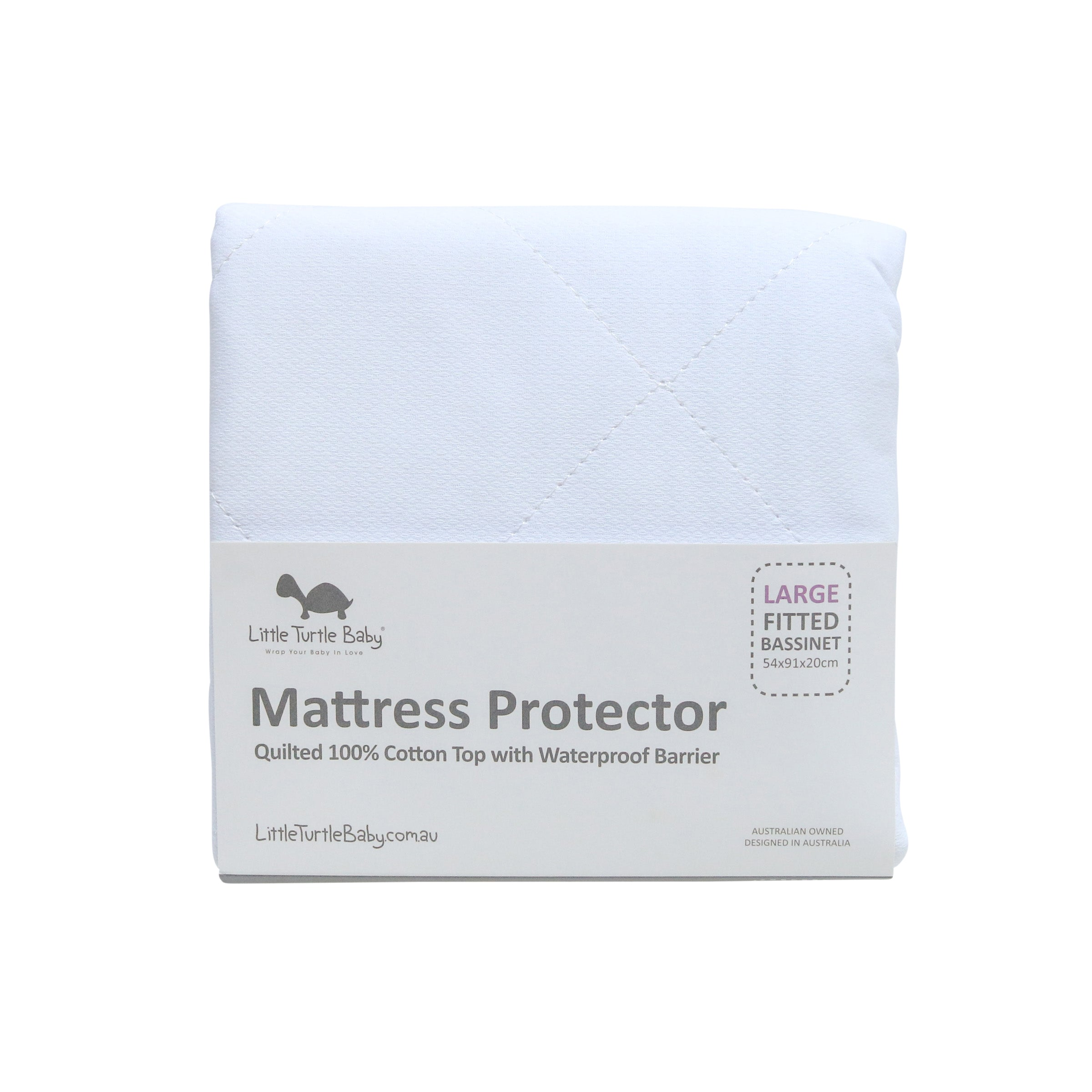 LARGE RECTANGLE Bassinet - Fitted Mattress Protector