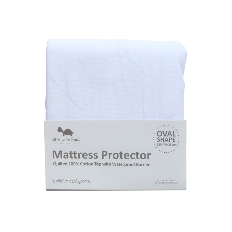 OVAL Cot - Fitted Mattress Protector