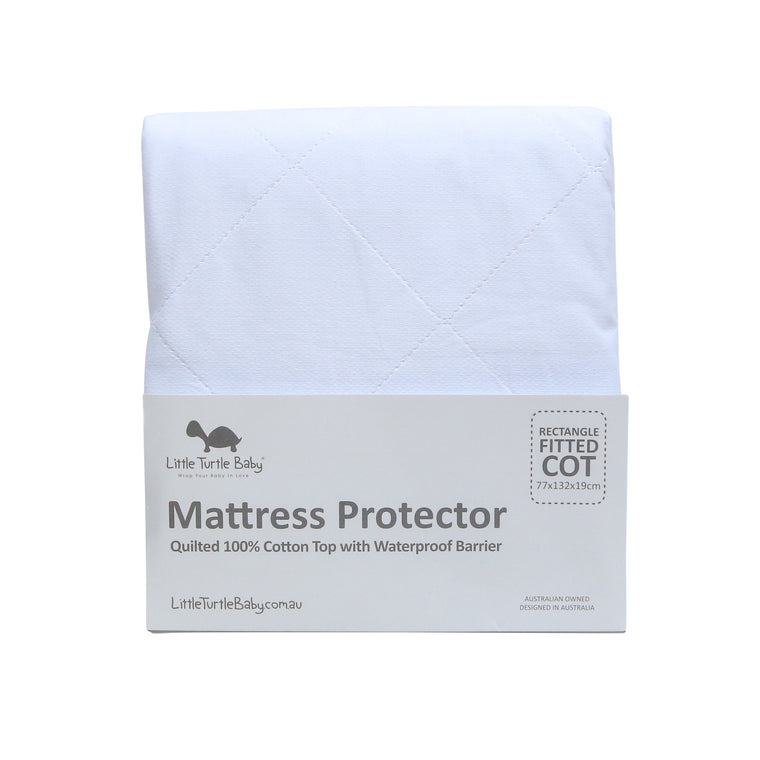 RECTANGLE Cot - Fitted Mattress Protector