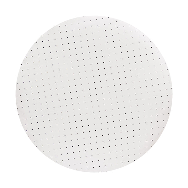 CIRCLE Bassinet Fitted Sheet (JERSEY): WHITE WITH BLACK DOTS