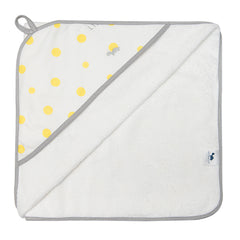 Hooded Towel - YELLOW & GREY SPOTS