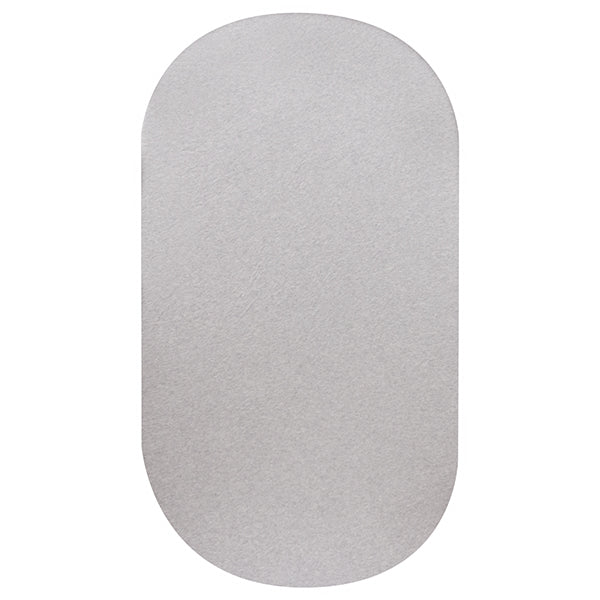 OVAL Cot Fitted Sheet Jersey Cotton: SOFT GREY MARLE