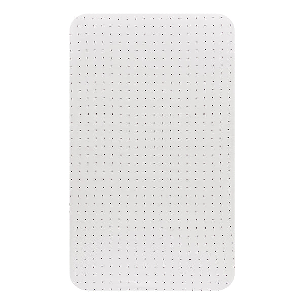 Cot Fitted Sheet Jersey Cotton: WHITE WITH BLACK DOTS