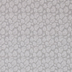 Cot Fitted Sheet Jersey Cotton: GREY WITH WHITE LEAVES