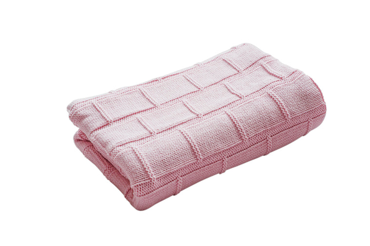 Organic Cotton Baby Blanket - BABY PINK