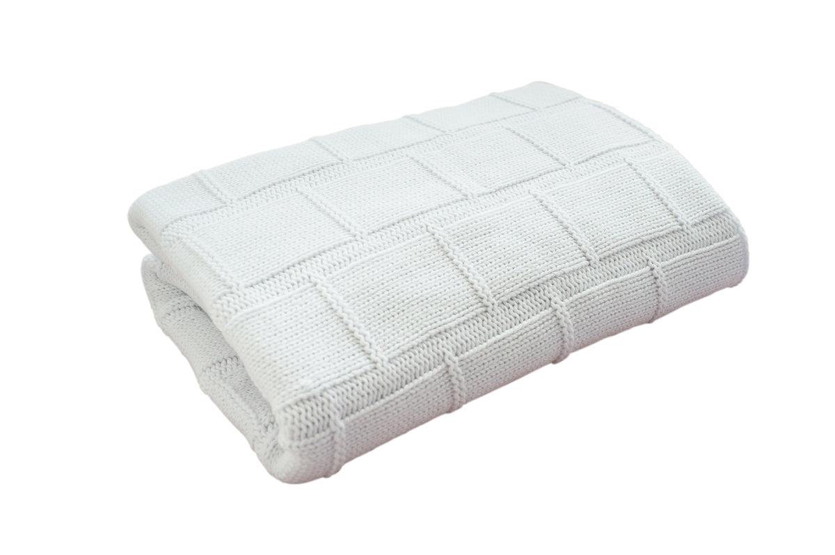 Organic Cotton Baby Blanket - WHITE