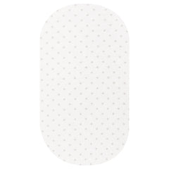 OVAL Cot Fitted Sheet Jersey Cotton: GREY STARS