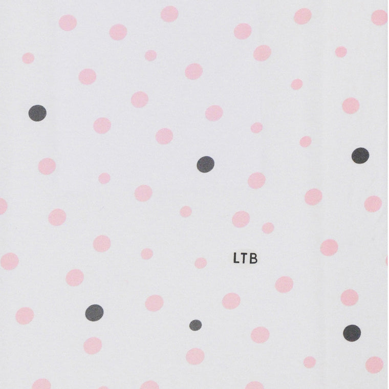 Baby Wrap - Stretch Cotton Jersey: PALE PINK & GREY SPOTS