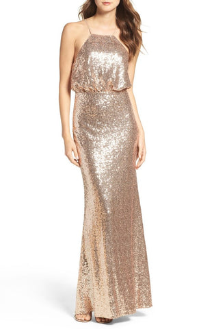 Arman Gold Sequin  Gown By Leah Rose ( online only)