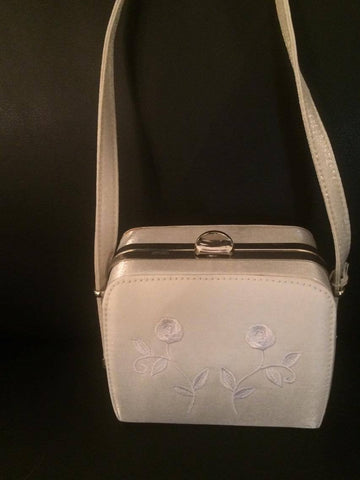 Light Silver embroidered Bag (Sale Item)