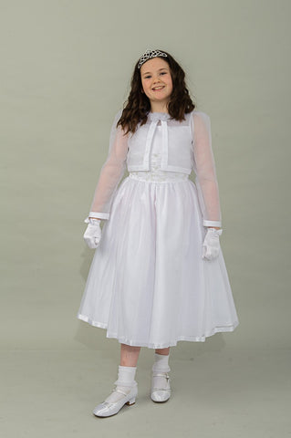 Ailish Communion Dress & Matching Jacket By Valentina Exclusive To The Bridal Lodge ( Sale)