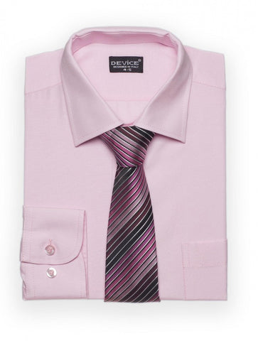 light pink boys shit and tie