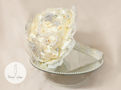 Ivory Bridal Bling Bouquet By T.B.L